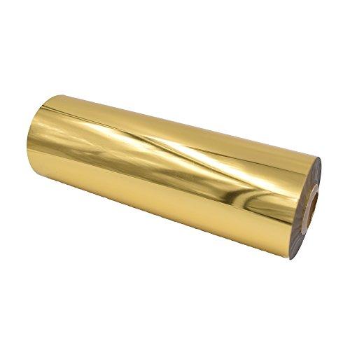 "Gold Metallic Laminating Foil - Heat Transfer for Paper 8.4"" x 4724"" Roll - DIY Foil Lamination Golden Metal for Art Crafts Gifts Wedding - Laminator Friendly or 8.4"" x 393 feet"