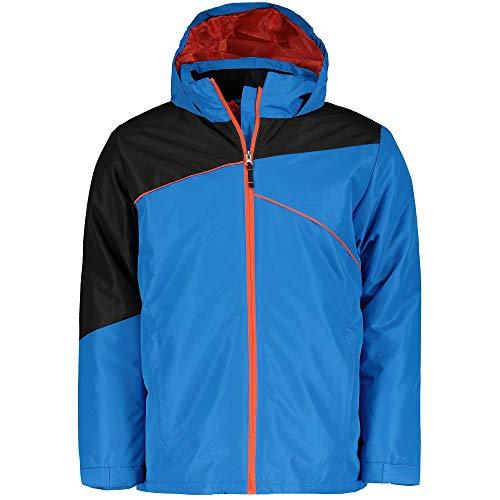 McKINLEY Xander Skijacke Jungen Black/Night Orange Jacke Snowboardjacke, Größe:140