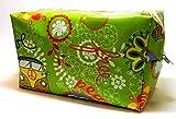 Kulturbeutel aus Wachstuch - BUS FÜR HIPPIES - Waschbeutel/Toilettenbeutel/Kulturtasche für Shampoo, Kosmetik, Zahnbürste, Deo/Kultur-Beutel/Kultur-Tasche - Geschenk Geburtstag