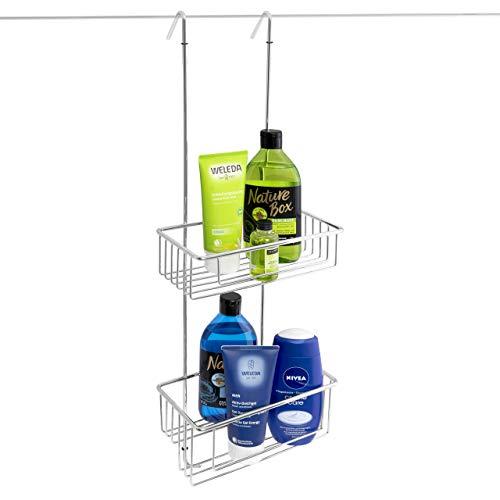 kowald Design Duschregal zum Hängen | XL | Duschablage zum Hängen | 69x23x12cm | verchromt rostfrei