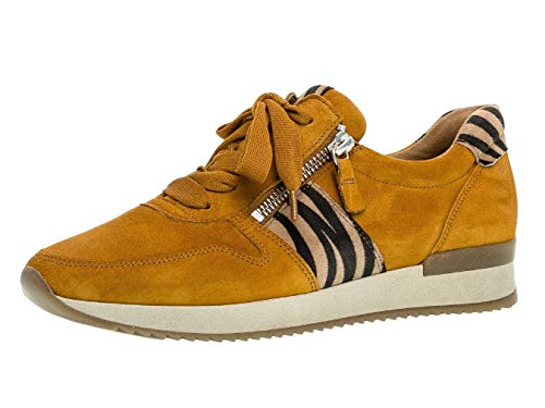 Gabor Damen Sneaker 33.420, Frauen Low-Top Sneaker,Halbschuh,Schnürschuh,Strassenschuh,Business,Freizeit,Curry/Natur,40 EU / 6.5 UK