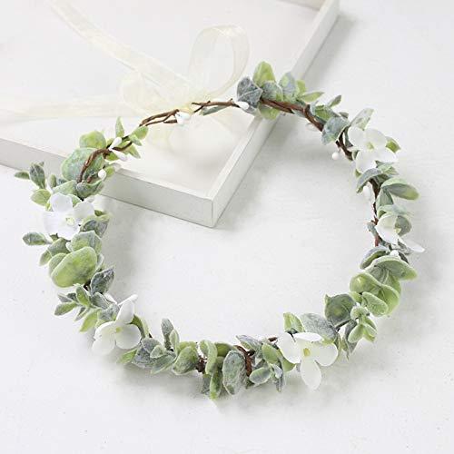 Ironhorse Diadema de plástico con flores redondas para el pelo, corona de novia, corona de boda, tiara para mujeres y niñas, fiesta de vacaciones