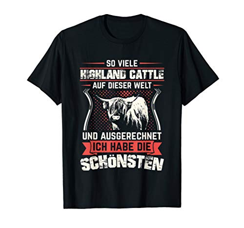 Hochlandrind Hochland Rind Kuh Hochlandkuh Bauern Landwirt T-Shirt