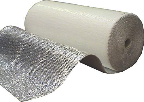 Optimer System - Aislamiento Termico Aluminio Reflexivo multicapa de burbujas de aire - Rollo aislante termico de 42 m², para techo, pared y fachada - RF1