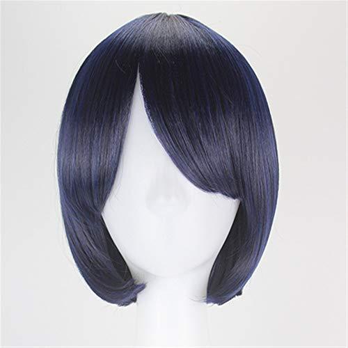 Sintético del anime cosplay peluca corta del traje de Halloween peluca de mezcla corto mullido pelo pelucas llenas (Color : E)