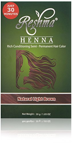 Reshma Beauty 30 Minute Henna Hair Color Pure Natural & Organic Dye with Goodness of Herbs (Light Brown)