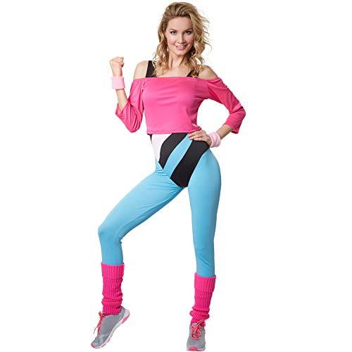 dressforfun 900572 Disfraz de Mujer Profesora de Aerobic, Traje Estilo Años 80 (M| No. 302749)