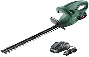 Bosch EasyHedgeCut 18-45 Cordless Hedge Cutter with 18 V Lithium-Ion Battery, 450 mm Blade Length, 15 mm Tooth Opening