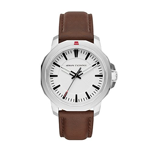 Armani Exchange Reloj Analogico para Hombre de Cuarzo con Correa en Cuero AX1903