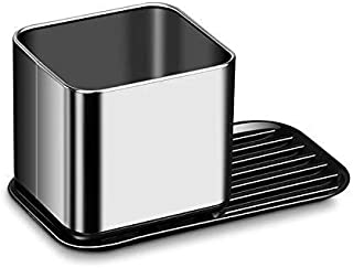 Apex Home Sink Caddy, Kitchen Sink Organizer for Dish Brushes, Soap, and Sponges (Chrome/Plastic)