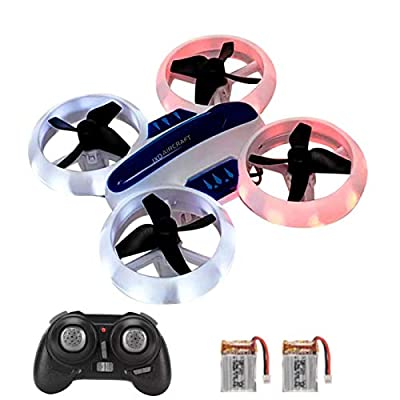 SkyCo New Desing UFO Mini Drone 532 2.4GHz RC Quadcopter Altitude Hold Neon Light Up Drones for Kids Boys Girls Toy with Extra Battery from jdx