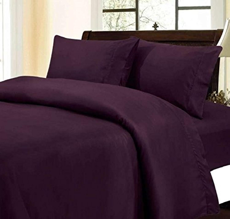 6pièce de lit jusqu'à 38,1cm Poche Profonde 650tc Violet Couleur Unie Empereur Taille 100% Coton égypcravaten par Exclusif Parure de lit