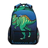 School College Backpack Rucksack Travel Bookbag Outdoor Dinosaur Hadrosaurus