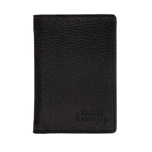 Otto Angelino Bifold Leather Wallet - Passport Style...