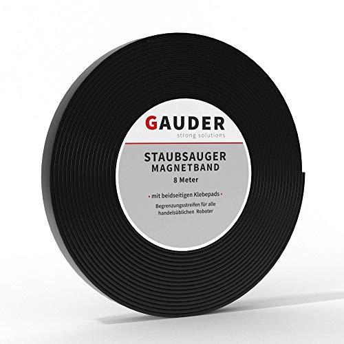 GAUDER Saugroboter Magnetband NEUE VERSION 2021 I Für Neato, Xiaomi, Miele, Vorwerk & Tesvor (8m)