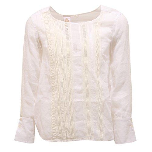 Dondup 0895T Camicia Bimba ramiè Bianco Manica Lunga Shirt Kid [10 Years]