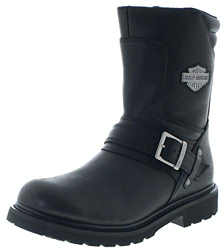 FB Fashion Boots D95194 - Stivali da Motociclista, da Uomo, con Grasso in Pelle, Nero (Nero), 40 EU