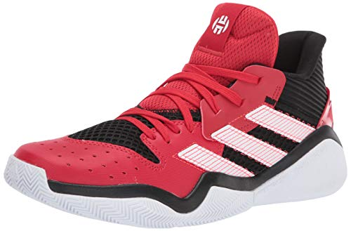 adidas Men's Harden Stepback Basketball Shoe, core Black/Scarlet/FTWR White, 12 M US