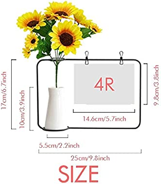 Beauty Gift America Colombia Flag National Emblem Artificial Sunflower Vases Bottle Blessing Card