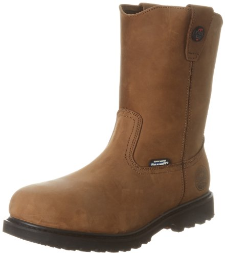 Skechers for Work Men's Ruffneck Steel Toe Work Boot,Dark Brown,10.5 M US