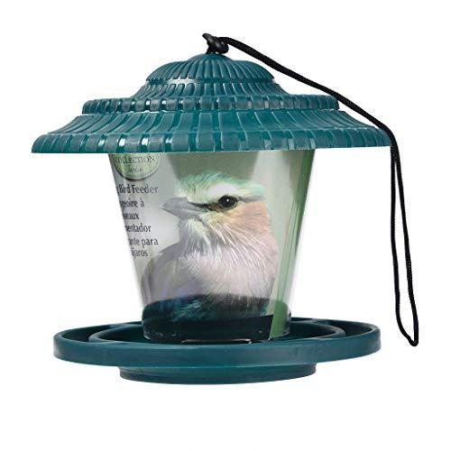 Katpost Mangeoire à oiseaux sauvages pour jardin jardin extérieur carré debout sur le sol, poteaux dans le jardin, patio, idée cadeau pour les parents