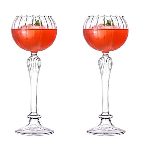 RYSF Copa de Vino Profesional Decoración de Cristal Vela Soporte de Vela candelabro Luz de luz Flor Moda Caliente Cafetería Copa de Barra (Size : 2pcs)