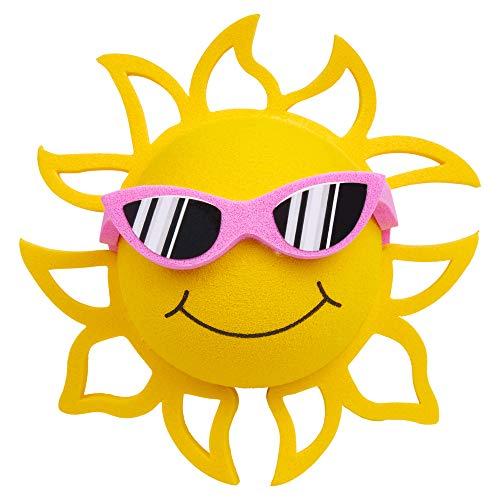 Coolballs California Sunshine w Sunglasses Car Antenna Topper/Auto Mirror Dangler/Desktop Bobble Buddy (Pink Sunglasses) (Cute Car Accessory)
