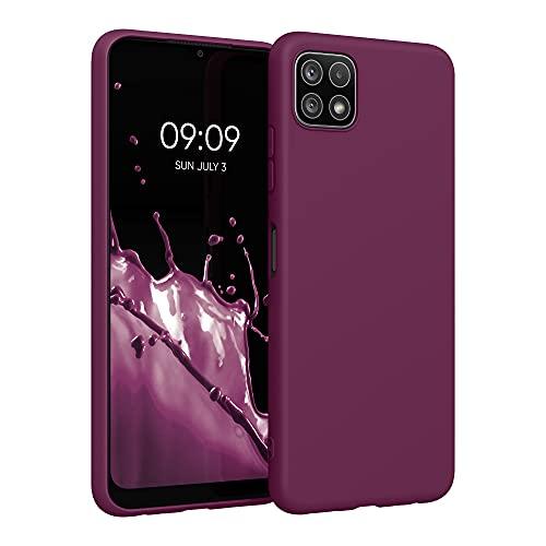 kwmobile Hülle kompatibel mit Samsung Galaxy A22 5G - Hülle Silikon - Soft Handyhülle - Handy Hülle in Bordeaux Violett