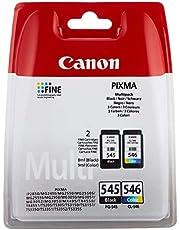 Canon PG-545/CL-546 Cartuccia d'Inchiostro, Multipacco, Nero+Colore
