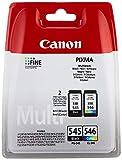 Canon PG-545+CL-546 Cartucho Multipack de tinta original Negro y Tricolor para Impresora de Inyeccion de tinta Pixma.