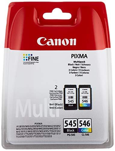 Canon PG-545/CL-546 Cartouche Multipack Noire + Couleur (Multipack plastique)