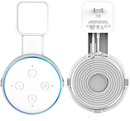 Echo Dot Wall-Mount Bracket, Third-Generation Space-Saving Dot Smart Speaker Accessories for Echo Dot Installation