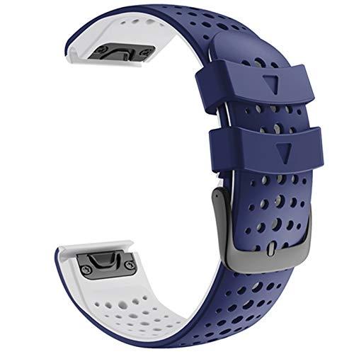 DXFFOK Reloj Strap 26 22mm Colorido QuickFit Correa de Banda para Garmin Fenix 6 6X Fenix 5 5X 3 3 HR 945 Ver Silicone EasyFit Muñequera Correa de la muñeca