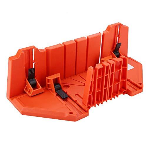Dioche Caja para tronzadora, caja para juntas para madera de 0°, 22,5°, 45°, 90°, 4 tipos de ranuras para poda en ángulo, corte de madera, sierra de mano para corte oblicuo