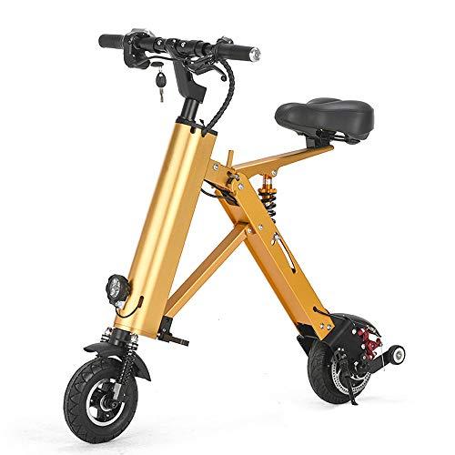 TINGYIN Mini bicicleta eléctrica plegable para adultos con batería de litio de...