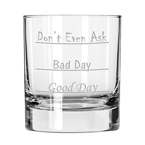 Funny Scotch Whiskey Glass, Unique Old-Fashioned Liquor Glass Cup with Text for Adult Men and Women