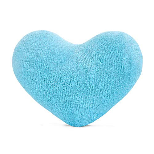 YINGGG Cute Plush Red Heart Pillow Cushion Toy Throw Pillows Gift for Kids' Friends/Children/Girl/Valentine's Day Fit for Living Room/Bed Room/Dining Room/Office and Sofa/Cars/Chairs(Blue)