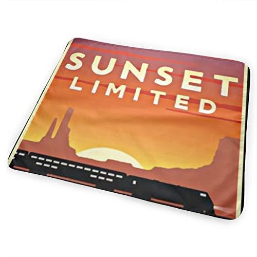 Affiche vintage Sunset Limited Portable Toddler Matelas à langer Matelas à langer Matelas à langer Premium Matelas à langer Tapis de Lit Tapis de jeu