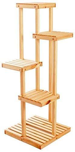 BINGFANG-W Soporte Planta moderna simple soporte de madera sólida de varias filas de la sala esquina del estante del Balcón vertical en el suelo de la planta en maceta del soporte de exhibición del es