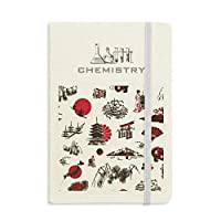 日本の桜松の富士山 化学手帳クラシックジャーナル日記A 5