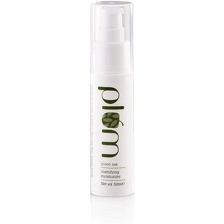 Plum Green Tea Mattifying Moisturizer | For Oily, Acne-Prone Skin | With Green Tea Extracts | Lightweight, Matte Formula | Clear, Moisturized Skin | 100% Vegan | 50ml