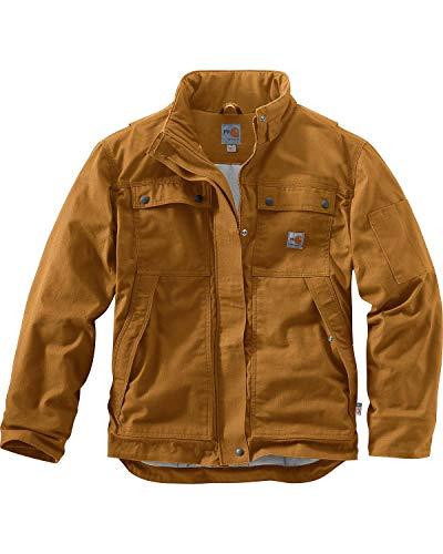Carhartt Men's Flame Resistant Full Swing Quick Duck Coat, Brown, X-Large