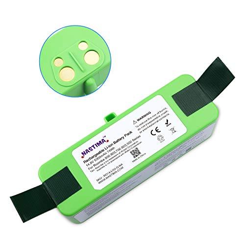 NASTIMA Actualiza la Batería de Iones de Litio de 14.8V 5000mAh Compatible con Roomba 985 980 960 895 890 880 870 860 805 790 780 770 760 695 690 680 675 650 640 620 614 590 563 510