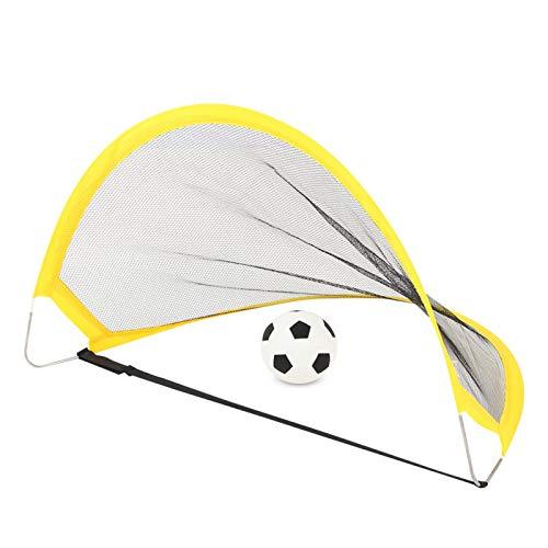 Tomantery Deportes para niños Mini Juego de portería de fútbol Deportes al Aire Libre Juegos de Pelota de Juguete Deportes de Entrenamiento Ejercicio Deportivo al Aire Libre(WT6651)