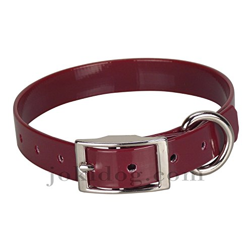 collier biothane 19 mm x 45 cm bordeaux