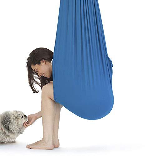 LHHL Aerial Yoga Swing The sensorische Integration Training Swing Indoor Therapie Schaukel für Kinder mit besonderen Bedürfnissen, Autismus ADHS Aspergers (Farbe: Blau, Größe: 150 x 280 cm)