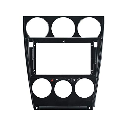CCHAO 9 Pulgadas 2DIN Coche Estéreo Radio DVD Player Panel Audio Frame FIT FIT FOR Mazda 6 2004-2016 (Color Name : Black)
