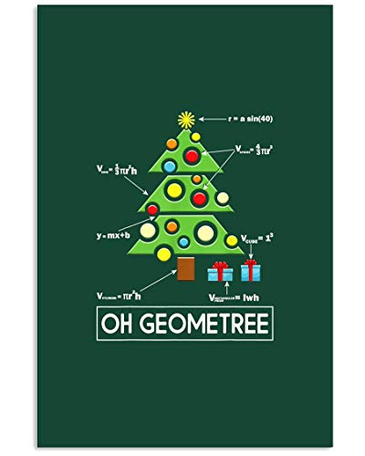 AZSTEEL Funny Math Geometry Christmas Tree Geometree Teach | Poster No Frame Board For Office Decor, Best Gift For Family And Your Friends 11.7 * 16.5 Inch