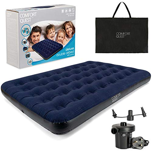 Double Airbed Inflatable Camping Blow Up Mattress Air Bed And Electric...