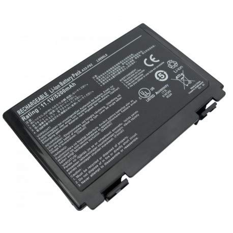 NUOVO - Batteria 5200mAh A32-F52 F82 per Asus K50C-SX0023 K50C-SX002A K50C-SX002V K50C-SX002X K50C-SX009 K50C-SX009V K50C-SX010V